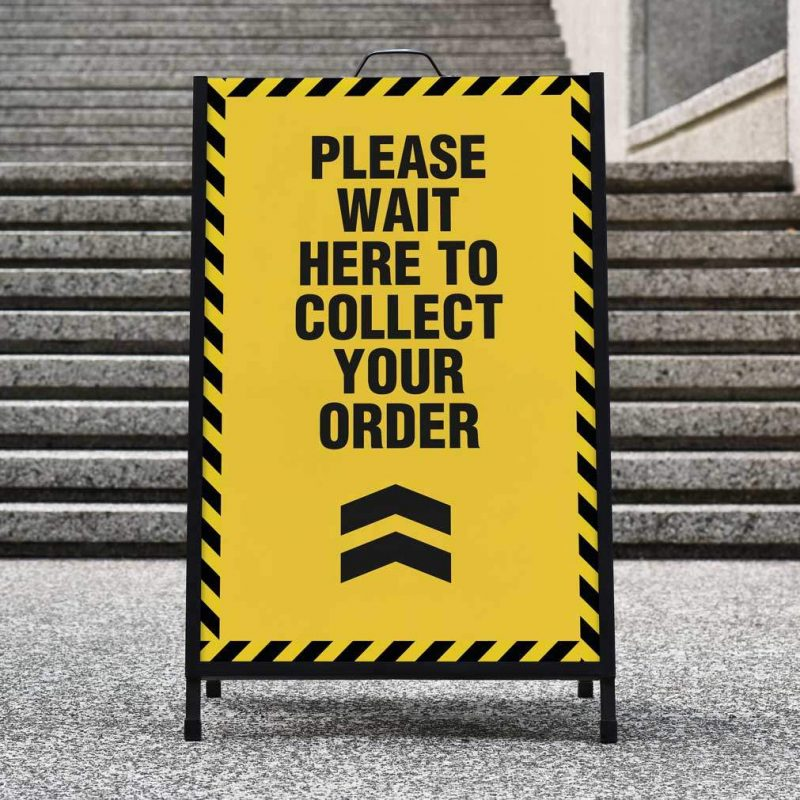 A-board sign