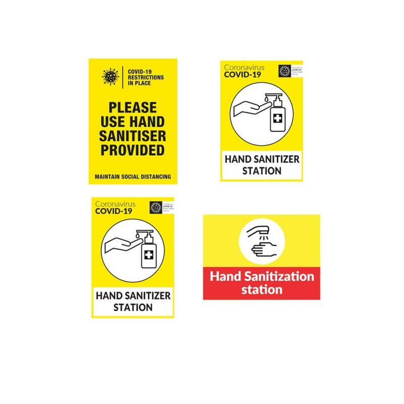 Hand Sanitiser Safety Posters