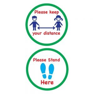 School Safety Floor Stickers