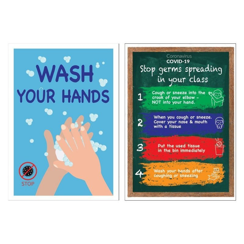 A3 size COVID-19 posters for primary schools