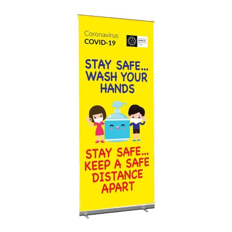 Pull up banner for primary schools