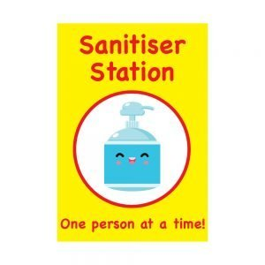 Primary School Sanitiser Station Stickers for COVID-19