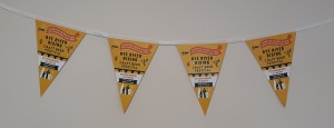 Bunting for beer festival printed by Sooner than Later