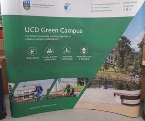 Pop up display unit digitally printed by Sooner than Later for UCD